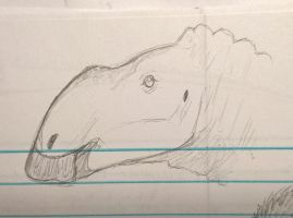Doodle Hadrosaur 2 by CMIPalaeo