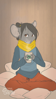 autumn coffee by orum-the-cat