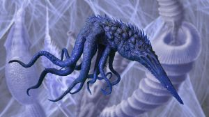Dream Octopoid Creature by Loneanimator