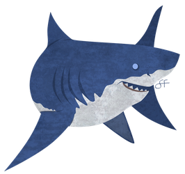 Friday's Shark - Great White by shayfifearts