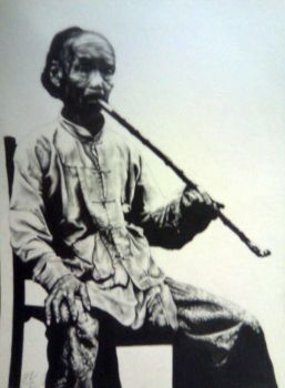 Old Chinese Man drawing by carlotta-guidicelli