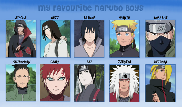 My Favorite Naruto Boys by Lady-Zaeliea