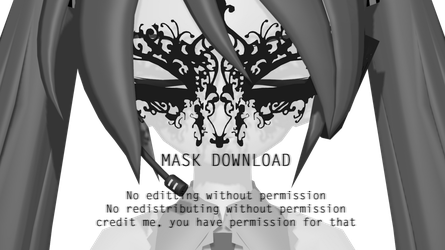 - MMD DL - Dark Mask by NoUsernameIncluded