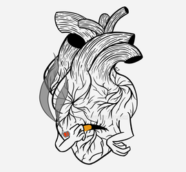 Redbubble| Cool stuff: Smoking out the pain by EvaJulia