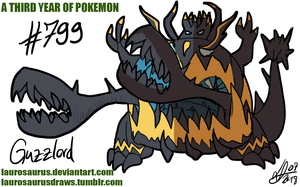 A third year of pokemon: #799 Guzzlord