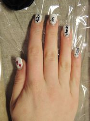 Alice in Wonderland inspired Nail Art II by LadyxOfxLight