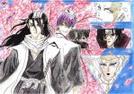 Byakuya, Gin and Friends 2 by Dama-del-Viento