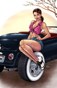 50s Pinup by VinRoc