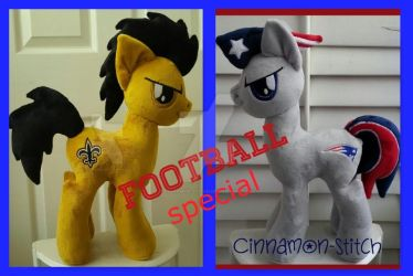 mlp plushie commission FOOTBALL special by CINNAMON-STITCH