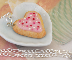 Heart Sugar Cookie Necklace by DeliciousTrickery
