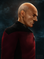 Captain Jean-Luc Picard by ErstwhileSky