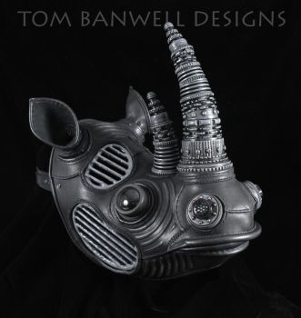Black Rhino mask by TomBanwell