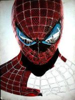 2014 Drawing - wip no. 5 of spiderman :) by nielopena