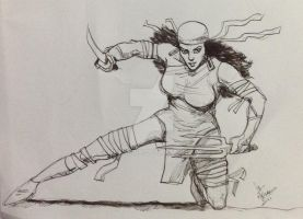 Elektra drawn as part of daily sketch challenge by mrinal-rai