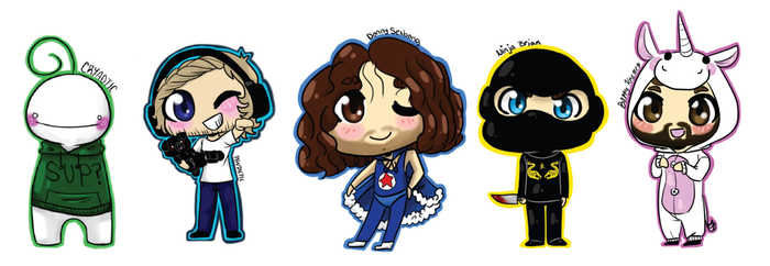 Youtube Sticker Collection 3 by EllieDoodlez