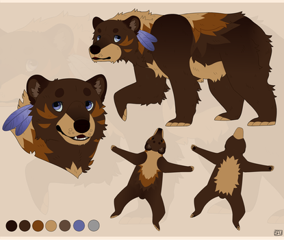 custom grizzly bear design by Savkate