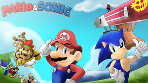 Mario and Sonic - Series! by kjshadows131