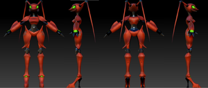 Antares Blue Star Rank Robot Zbrush by villyvalley16