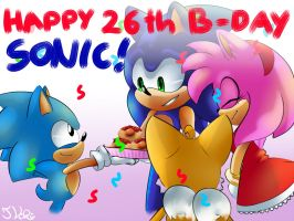 Happy 26th B-Day Sonic!! by TothViki