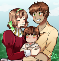 (COMMISSION)- Adorable Family by SmartasticalArt
