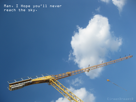 I hope you'll never reach sky by EireenDreamt