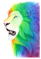 Rainbow Lion by CharlyJade