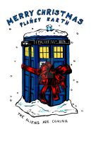 Tardis christmas card - Doctor Who by JennyTaravosh