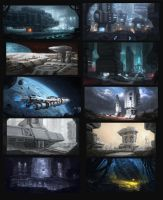 Sci-fi sketches by WiredHuman