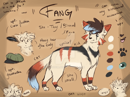 Fang - Fursona reference by Luceem