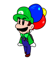 Luigi's Balloon World Animation by Walu-Sushi