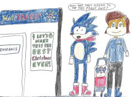 Sonic, Sally, and Christina - Christmas Shopping by dth1971