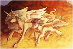 Wake of Mist and Flame by CaramelBrulee