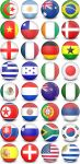 WorldCup Flag-Balls - 32 Icons by CreativeGeekDesigns