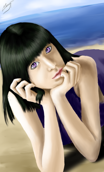 Lenalee on the beach by MarryFall