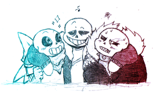 Sans and the Sans-es - Me, myself and I by yami0815