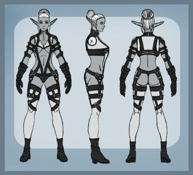 Dark Elf Costume Reference by firepixie