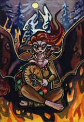 ACEO Shaman by Missopeho