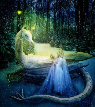 Snow Queen and the White Dragon by jonrek2014