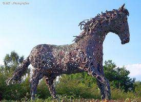 Forged horseshoe horse by MT-Photografien