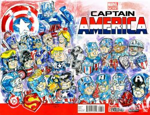 Captain America Versions Sketch Cover