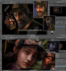 Clementine and Kenny WIP by Bembiann