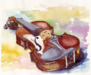 So I'm learning how to watercolor 3 by teh-yoshi