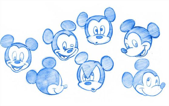 Mickey Mouse Expressions Sheet by Torogoz