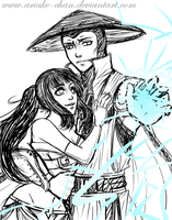 Madison and Raiden - Sketch - by Ariake-chan