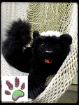 SOLD!!! Recycled clothingTBL handmade Honey Badger by TouchedbyLavender