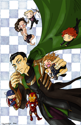 Loki and the Tinyvengers! by The-Diet-Elf