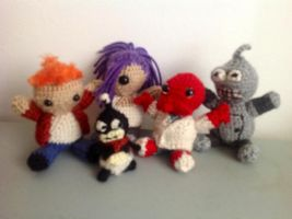 Futurama amigurumis - Group by ninjapoupon