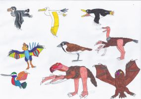 Batbirds by Coelotitan