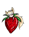 Strawberry Foxeh by PrinceNeoShnieder