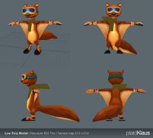 Xtreme Squirrels: Seppe 3D (low Poly) by plaidklaus